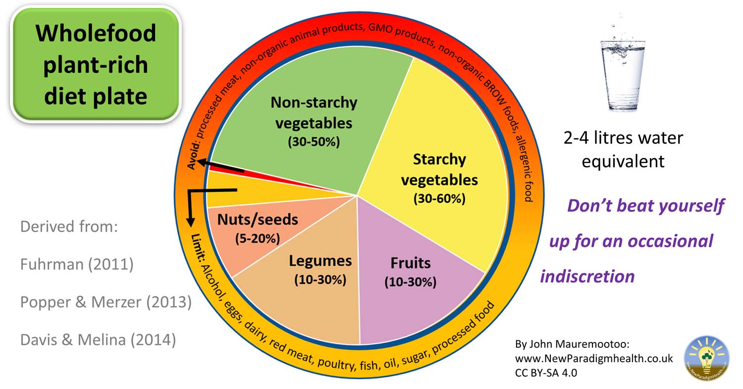 The New Paradigm Health Wholefood Plant-Rich Food Diet Plate